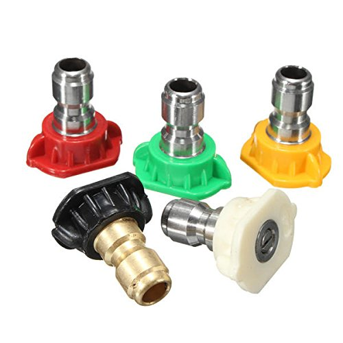 5pcs 2.5 GPM High Pressure Washer Rotating Turbo Nozzle Spray Nozzles Tips - Scoop Wall Washer