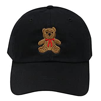 C104 Teddy Bear Cotton Baseball Cap (Black) at Amazon Women s ... 93751c61d4a