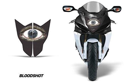 AMR Racing Sport Bike Headlight Eye Graphic Decal Cover for Suzuki GSXR 750R 11-14 - Bloodshot