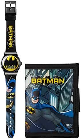 Official Childrens Batman Digital Watch and Wallet Gift Set - DC Comics