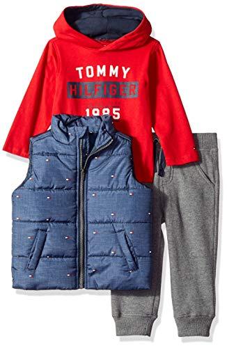 Tommy Hilfiger Baby Boys 3 Pieces Vest Set, Navy/White, 24M