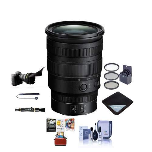 Nikon NIKKOR Z 24-70mm f/2.8 S Lens - Bundle with 82mm Filter Kit, Flex Lens Shade, Lens Wrap, Cleaning Kit, Capleash II, LensPen Lens Cleaner, Mac Software Package