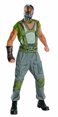 Batman The Dark Knight Rises Adult Deluxe Bane Costume, Multi-Colored, (Dark Knight Rises Bane Halloween Mask)