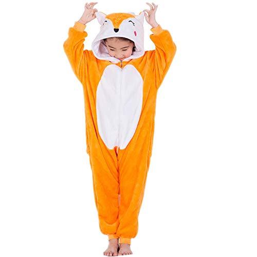 Children's Animal Pajama Onesie Halloween Costume Pockets(yellow-110-for -