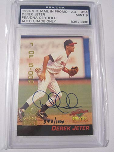 (Derek Jeter 1994 Signature Rookies S4 Mail In Promo Certified Auto 9 MINT - PSA/DNA Certified - Baseball Slabbed Autographed Rookie Cards)