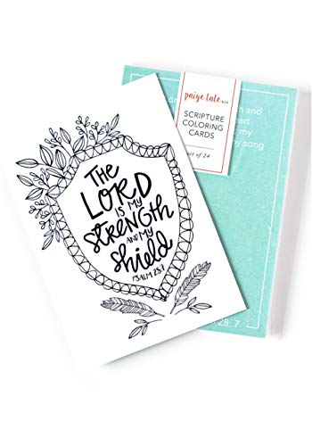 Scripture Coloring Cards: Color, Share, and -