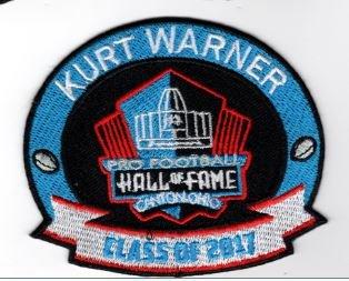 KURT WARNER PATCH 2017 PRO FOOTBALL HALL OF FAME HOF RAMS CARDINALS SUPER BOWL by Football
