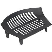 JVL Chiltern Grille de Foyer en Fonte pour cheminée à Charbon/bûches-38x 27x 12cm, Noir