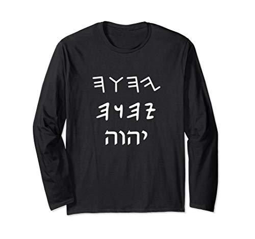 Yahuah Tetragrammaton Hebrew Long Sleeve T-Shirt