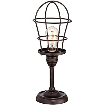 Franklin Iron Works Industrial Wire Cage 17 1/4 Accent Lamp