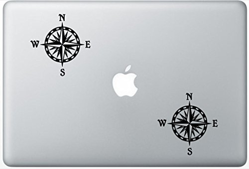 Compass Rose FlashDecals0305 Set Of Two (2x) , Decal , Sticker , Laptop , Ipad , Car , Truck