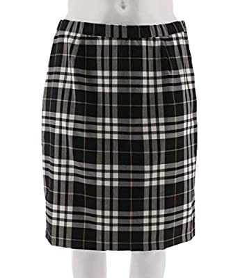 Joan Rivers Tartan Plaid Slim Skirt A298266
