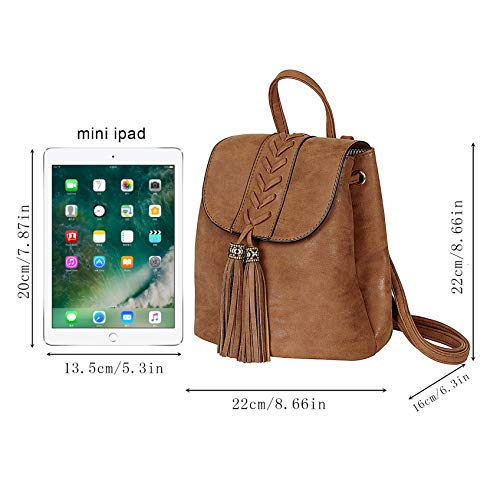 Sac Party Marron voyager Soft PU Filles Femme à pour Broderie Bohemian dos Mini dos Dating Shopping à Holiday Sac qaUOwIHU