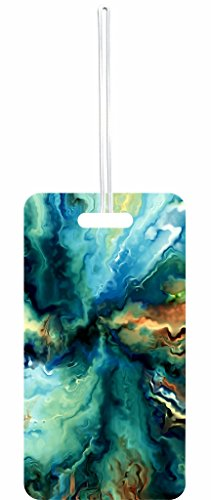 Abstract Pastel Oil Paint Print Design Rosie Parker Inc. Set of 5 Luggage Tags with Personalized (5 Piece Set Medium Arch)