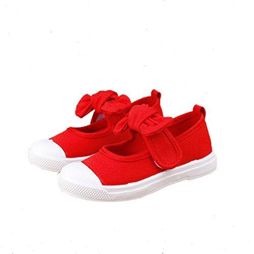 Un Par Zapatos Infantiles De Lona Zapatillas Sales De Mary Jane Para Niños Chicos Chicas - Rojo, 29 Rojo