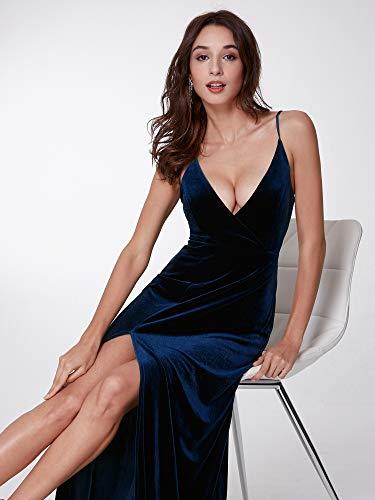 Femme 07180 B en Minuit Bleu Moulante Longue de Soire Ever Robe Veulours Pretty Swaq8a