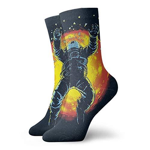 YUANSHAN Socks Moon Astronauts Women & Men Socks Soccer Sock Sport Tube Stockings Length 11.8Inch]()