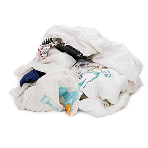 Wiping Rags - Pro-Clean Basics A99701 Recycled T-Shirt Cloth Rags, 4 lb. Bag, Multicolored