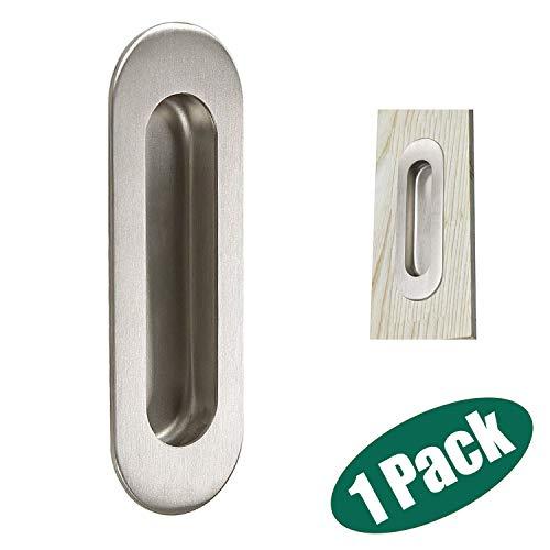 (Probrico Stainless Steel Flush Pull Handles, Sliding Door Handles, Oval 4.8-inch Legth)