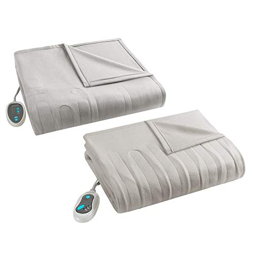 Beautyrest - Heated Fleece Blanket and Throw Combo Set - Tan