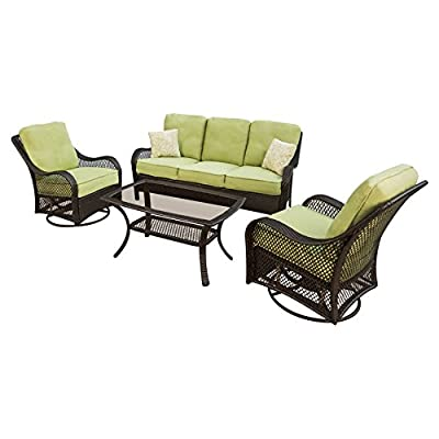 Hanover ORLEANS4PCSW Orleans 4-Piece Outdoor Lounging Set