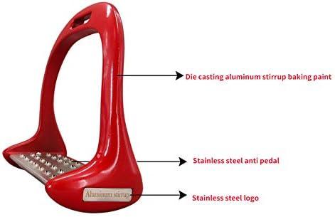 Alicer 1 Paar Steigbügel für Pferde, verdickte rutschfeste Breitbügel-Steigbügel aus Aluminiumlegierung, Pferdesattelbügel Sicherheitsreiter