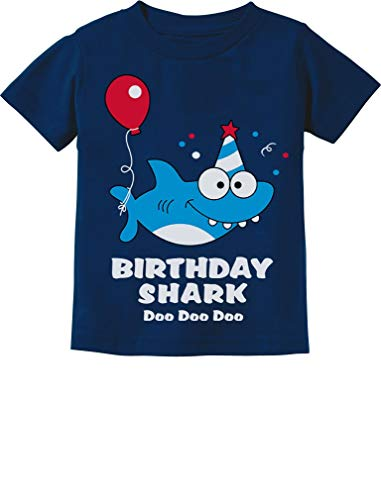 Baby Shark Doo doo doo First/2nd Birthday Shark Outfit Infant Kids T-Shirt 18M Navy