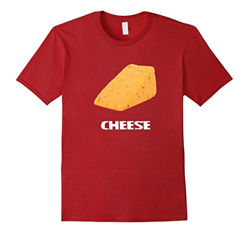 Silly Couple Halloween Costumes (Mens Cheese Couples Costume T Shirt - Cheese and Crackers 3XL Cranberry)