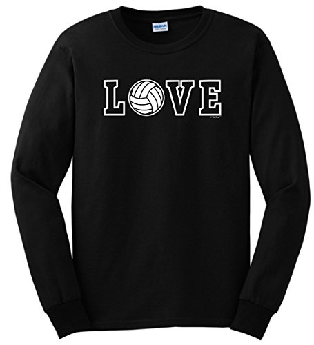 - ThisWear Volleyball Net Volleyball Gifts Love Spelled With Volleyball Long Sleeve T-Shirt Small Black
