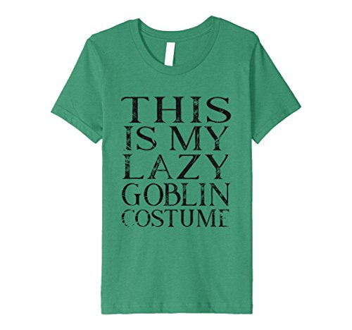 Goblin Costume Green Kids (Kids This is my lazy goblin costume halloween shirt 10 Kelly)
