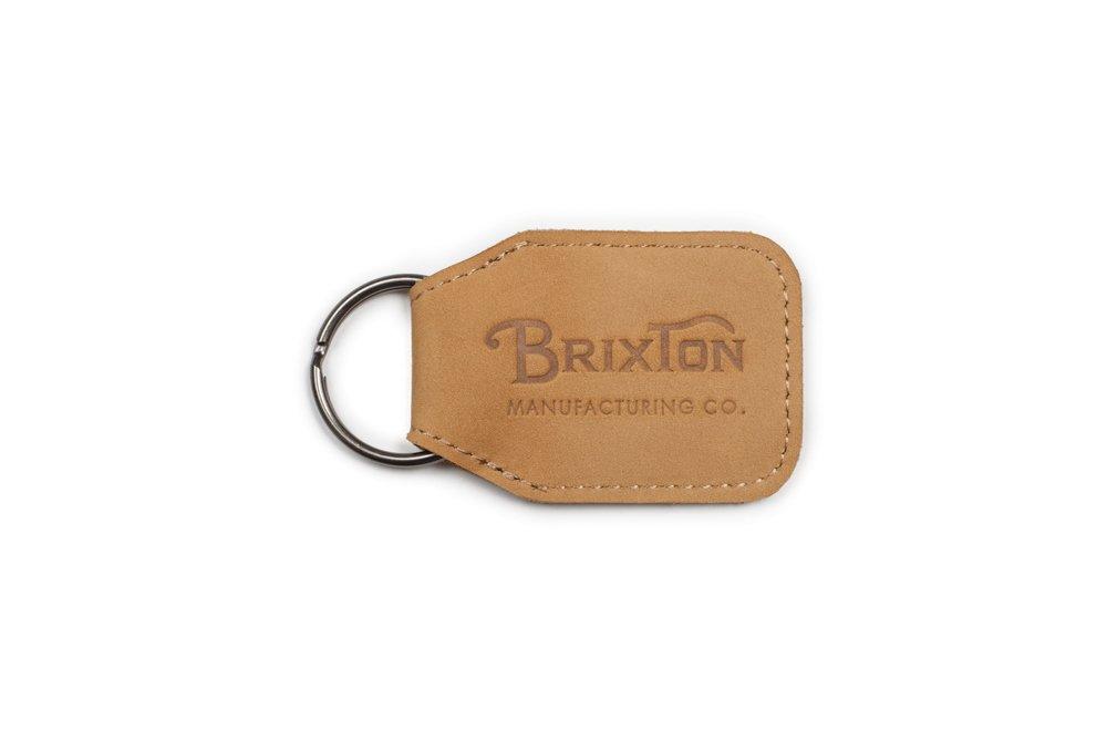 Brixton Men's Tribute Key Chain, Natural, O/S