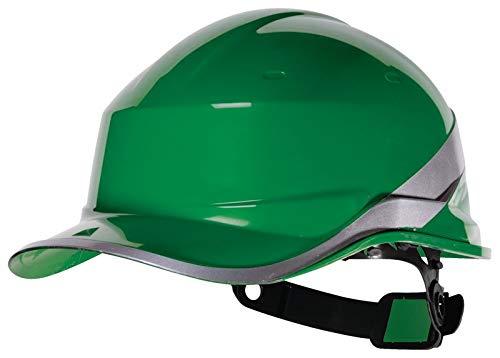 Venitex Delta Plus Diamond V Baseball Cap Style Safety Helmet Hard Hat Green ()