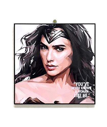 Pop Art Superhero Quotes Wonder Woman Framed Acrylic Canvas Poster Prints Artwork Modern Wall Decor, 10
