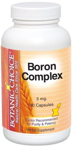 Botanic Choice, complexe de bore, 3 mg Capsules, 90-Count (Pack de 6)