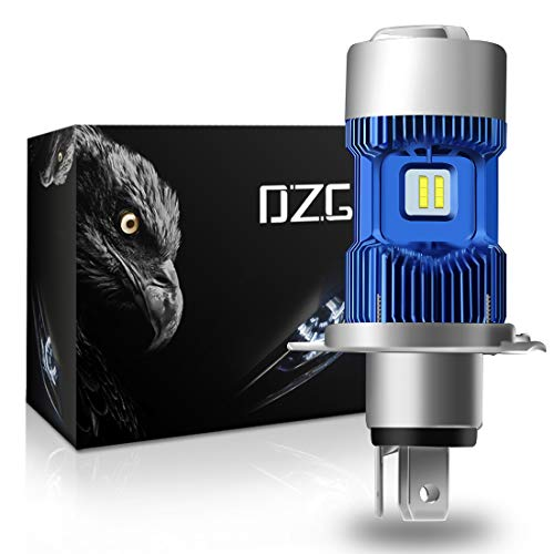 DZG H4 Motorcycle LED Headlight Bulb 9003 HB2 HS1 P43t 6500K 9000LM CREE Chips High Low Beam Light Conversion Kit 2 Yr Warranty-1 Pack