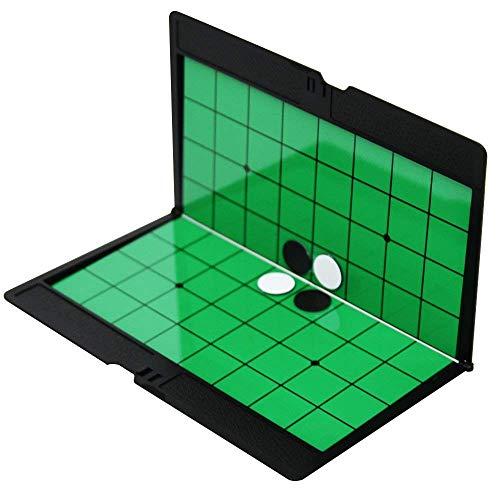 Dabron リバーシ マグネット ポータブル 折りたたみ ゲーム 携帯 回転 将棋 チェス 本 持ち運び ボードゲーム