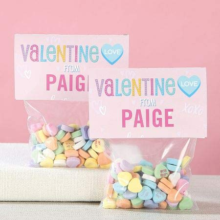 (Personalized Conversation Hearts Valentines - Set of 24, 3