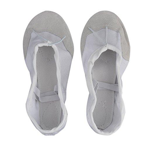 uxcell Gymnastic Training Dancing Bodybuilding Elastic Band Flat Ballet Shoes Pair OAT1Rdap