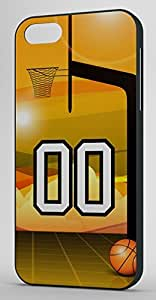 Basketball Sports Fan Player Number 00 Black Rubber Decorative iPhone 6 PLUS Case