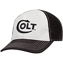 Official Colt Firearms Hat Baseball Cap Light Grey/Black w/Embroidered Colt Chippewa