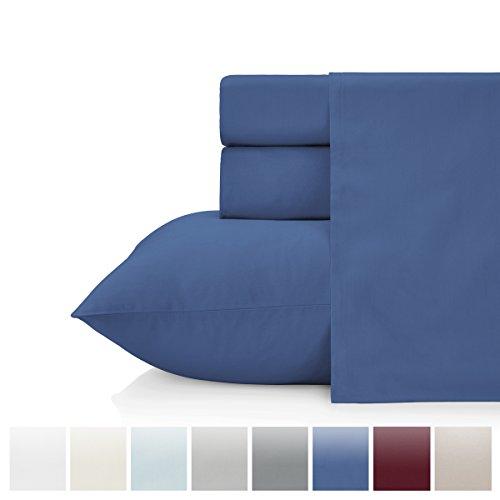 - KRISTEX Ultrasoft 500 Thread Count 4 Piece Queen Sheet Set, Soft & Silky Sateen Weave, Elegant & Classic Luxury Bedding Set, Deep Pocket, Cozy, Comfortable (Queen, Navy)