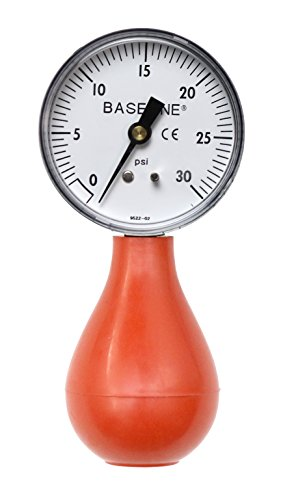 Baseline 12-0290 Dynamometer, Pneumatic Squeeze Bulb 30 PSI Capacity, No Reset