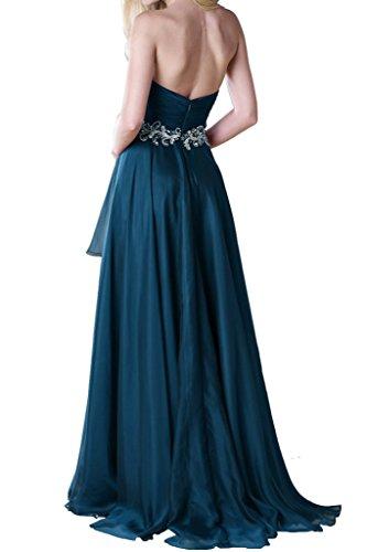 Abendkleider Ivydressing Ausschnitt Herz Blau Chiffon Beliebt A Festkleid Promkleid Linie Lang RqRznfxB