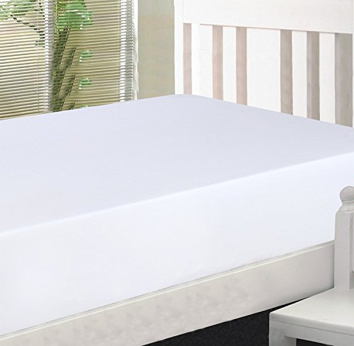 Utopia Bedding Cotton sateen Fitted Sheet (Full, White) – Premium Quality Combed Cotton Long Staple Fiber - Breathable, Durable & Comfortable with Deep Pocket