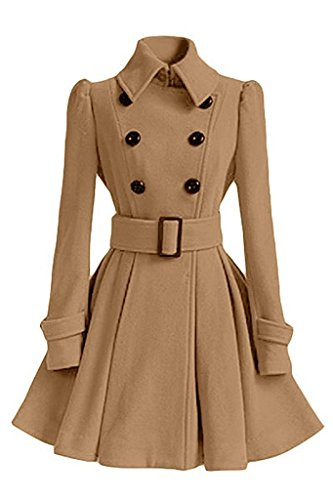 Coat Kaki Minetom Longues Femme Manches De College Hiver Manteau Manteau Coton Jacket Veste De Parka D'hiver FSFZ4H