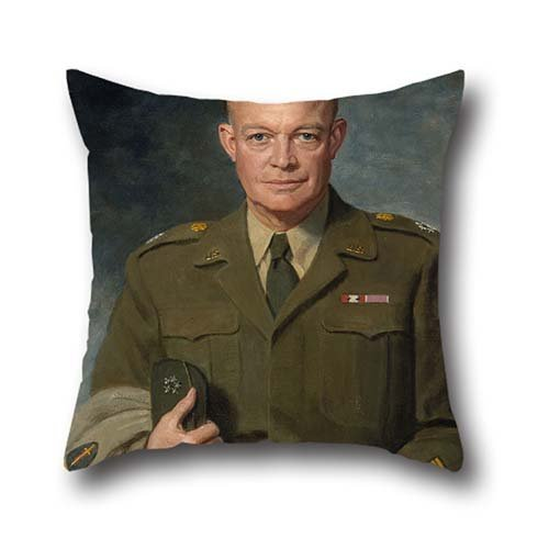 [Dwight D. Eisenhower Throw Cushion Covers Depiciting Thomas Edgar Stephens Oil Painting] (Lattice Iron Beds)