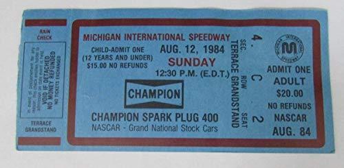 1984 Michigan Champion Spark Plug 400 Ticket Stub Darrell Wartrip Win 127678