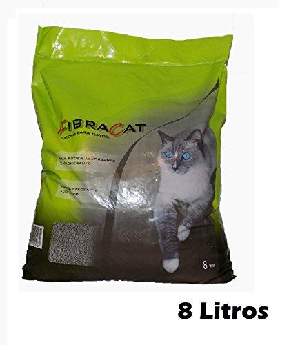 Arena lecho para gatos 8L ,ligero,ecológico,con gran poder absorbente y aglomerante