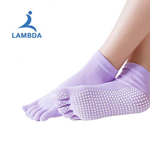 Amazon.com: CUSHY Women Yoga Socks Anti-slip Five Fingers ...