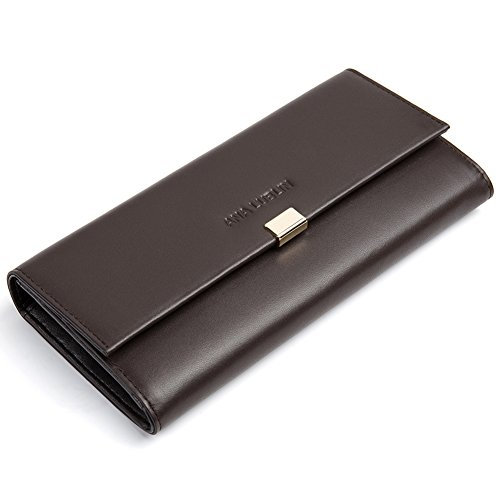 ANA LUBLIN COLLECTION Leather Wallets For Women Large Capacity Card Holder Organizer Ladies Clutch Purse